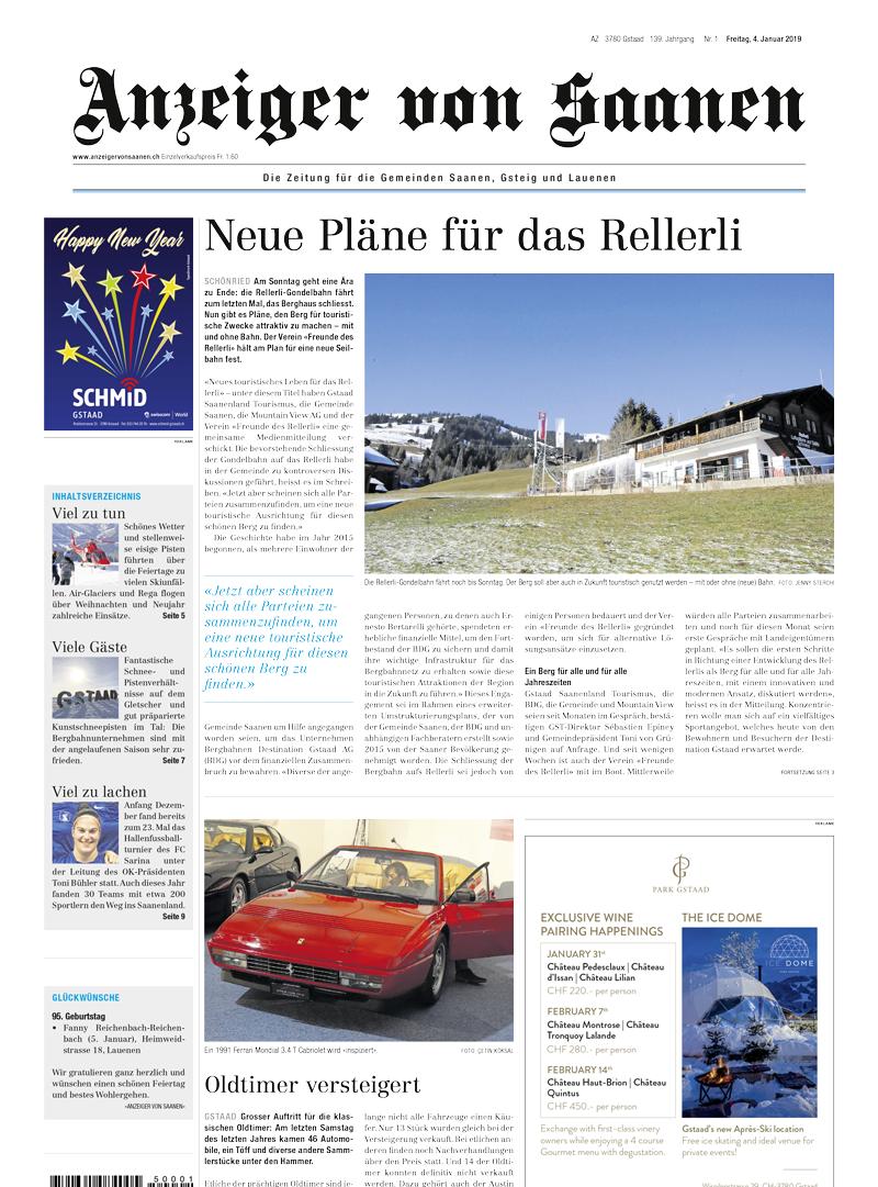 Publikationen | Anzeiger | GSTAADLIFE | Müller Medien AG